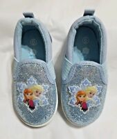 aff03eb7553700 NEW NWOT Disney Frozen Canvas Slip On Loafers Size 6 7 8 10 or 11 Toddler