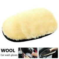 Super Soft Lambswool Car Wash Mitt Deep Pile Cleaning-Glove Wash-Tool N4Y9
