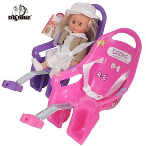 Kids Bike Seat Post Doll Seat with Holder for Kid Bike with Decorate Stickers