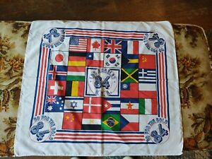1984 L.A. Olympics Collectible Bandana Scarf Go For The Gold Los Angeles 23x22