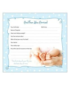 Baby Record Book It's A Boy - English 48 PAGES