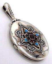 Unbehandelte Echtschmuck-Halsketten & -Anhänger aus Sterlingsilber Opal