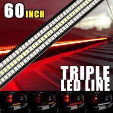 60INCH Triple Tailgate LED Light Bar Signal Brake DRL For NISSAN TITAN FRONTIER