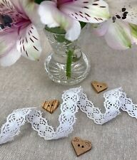 White Lace - 15mm Boho Trim - Folk Lace - Gypsy Lace Trim - 100% Cotton