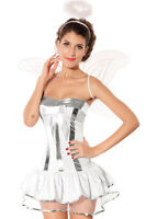 Neu Sexy Angel Engel Fasching Kostüm Karneval Motto Party 34 36 38 S/M  !8152