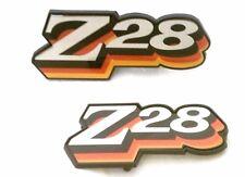 1978 ONLY! CAMARO Z28 - GRILL / FUEL  DOOR EMBLEM COMBO SET - 3 COLOR RED ORANGE