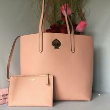 Kate Spade Suzy Large North South Leather Tote Handbag Cosmetic Pink PXRUA398