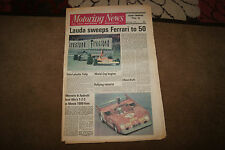 Motoring News 2 May 1974 Spanish GP Monza 1000 Kms Aberdeen Tour of  Lincs Rally