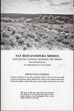 Vintage 1952 New Mexico Brochure - San Buenaventura Mission, Gran Quivera