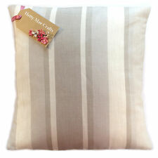 """16"""" Cushion Cover in Laura Ashley Awning Stripe Dove Grey Fabric 16""""x16"""" Same as Front"""