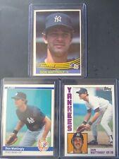 Don Mattingly 1984 (3) Card Rookie Lot Yankees Legend