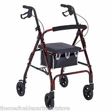 ProBasics by Invacare Rollator Rolling Walker, Flame RED