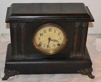 Vintage Sessions Clock Wind Up Mantle Clock- Works- NO KEY