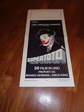 LOCANDINA,1980,SUPERTOTO, TOTO' CLOWN CIRCO CIRCUS