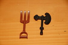 Lot of 2 Lego Duplo Pitch Fork and Castle Battle Axe