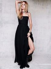 Free People Limited Edition Kristin Black Silk SunGazer Maxi-$700 MSRP