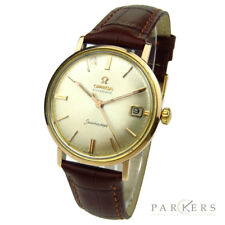 OMEGA SEAMASTER VINTAGE ROSE GOLD CAP AUTOMATIC WRISTWATCH DATING CIRCA 1961