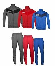 Unisex Zip Up Tracksuit Tops Bottoms Trousers Jacket Tricot Jogging Joggers Suit