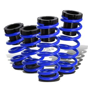 """Fit 91-99 Mit 3000Gt Gto Blue 0-3""""Adjustable Coilover Suspension Lowering Spring"""