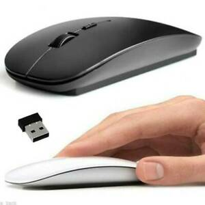 DE Mini USB Kabellos Maus Mouse Optische Für Windows Apple Macbook Pro Air PC