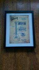 Patente De Guitarra Gibson Vintage Dibujo 1955 EE. UU. impresión L @ @ K