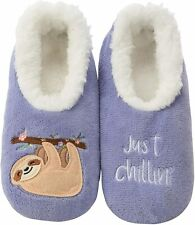 Snoozies Womens Slippers - Womens House Slipper Socks - Sloth Just Chillin
