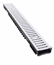 Bielbet Entwässerungsrinne Stahl verzinkt 1,5t belastbar L100xB13xH5,5cm