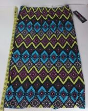 New with Tags! Eye Candy Juniors Skirt Size L Black Pink Blue Free Shipping!