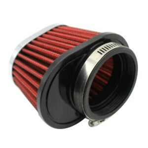 2PCS Red Universal 2.15'' Air Intake Cone Filter 55mm Fit For Car/Truck/SUV