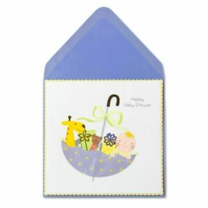 """Papyrus Card Baby Shower Presents in Fabric Umbrella"""" Laser Cut- Retail $7.95"""