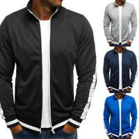 Fashion Mens Baseball Jacket Coat Bomber Casual Loose Fit Short Jackets Outwear