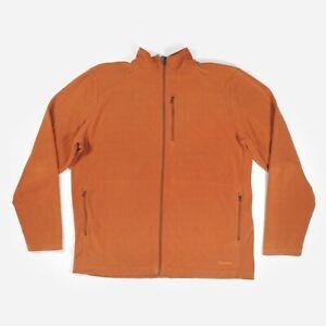 Rohan Microgrid Stowaway Fleece Jacket Rust Orange Jumper Top Full Zip Men's XL