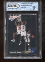 Shaquille O'Neal RC 1992-93 Upper Deck #1 HOF Rookie GEM MINT 10