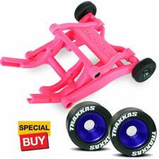 Traxxas Pink Wheelie Bar/Blue Alum Wheels & Rubber Tires: Stampede VXL /Bandit