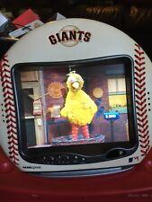 "HANNSPREE 9.6"" LCD COLOR TV MLB ""GIANTS"" LEATHER BASEBALL - RARE"
