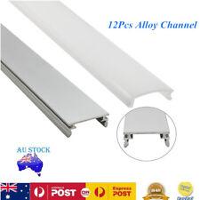 12x 1M Aluminium Channel Profile Alloy Heatsink Led Strip Light Cabinet Kitchen