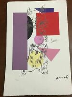 Andy Warhol Lithographie 57 x 38 Arches Stempel Trocken Israel Schlösser AN177
