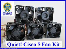 Quiet! Cisco Linksys SGE2010P Fan KIT 5 fans 12dBA Noise each Fan new Sunon