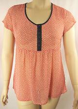 Virtu ts14+ Coral Cap Sleeve Polyester Shirt Top Tunic Plus Size 12 BNWT J70