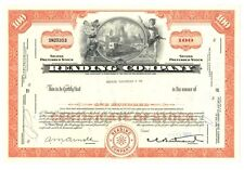 [37218] 1969 THE READING RAILROAD COMPANY STOCK CERTIFICATE (100 SHARES)