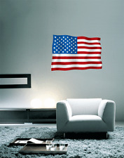"USA American Flag Wall Decal Large Vinyl Sticker 25"" x 18"""