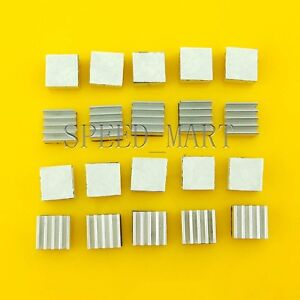20pcs Aluminum Heat Sink for StepStick A4988 IC Thermal Adhesive 8.8*8.8*5mm