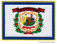 WEST VIRGINIA STATE FLAG embroidered iron-on PATCH - WV