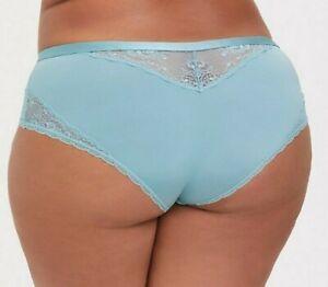Torrid  Aqua Microfiber & Lace Cheeky Panty  NWT  sz 3  plus
