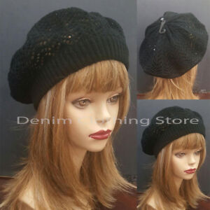 Women Summer Spring Winter  Crochet Knit Slouchy Beanie Beret Cap Hat One Size