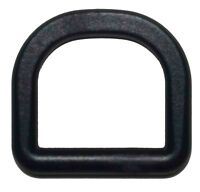 50 pcs 2 inch D ring DEE Ring D-Ring - Black Plastic - Shipped from USA