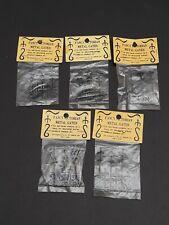 Vtg Fancy Victorian Metal Gates Doll House Miniatures Lot of 5 Original Packs
