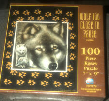 Wolf Puzzle Too Close To Pause Judi Rideout Sunsout New 100 Pc Mpz078 7X9.