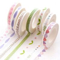 10 Rolls Diary Sticker Scrapbooking Self-Adhesive Stickers Label Decoration DIY