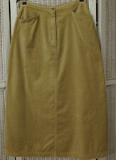 "LAURA ASHLEY Country Vintage A-Line Maxi Skirt UK14/EU40 30"" Waist Tan Velveteen"